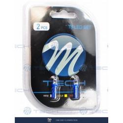Blister 2x Lámpara led L002 - T5 cóncavo Azul 12V