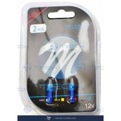 Blister 2x Lámpara led L053 - T5 1xSMD5050 Azul 12V