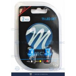 Blister 2x Lámpara led L004 - B8.5d cóncavo Azul 12V