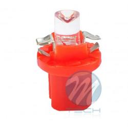 Lámpara led L005 - B8.5D redondo Rojo 12V