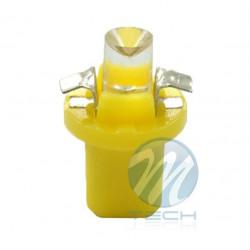 Lámpara led L005 - B8.5D redondo Amarillo 12V