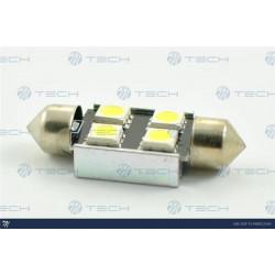 Lámpara led L328 - C5W 36mm 4xSMD5050 RAD. CANBUS - Blanco 12V