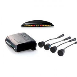 Kit 4 Sensores de Aparcamiento SteelMate color negro con zumbador