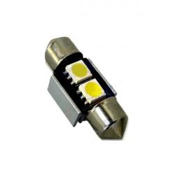 Lámpara led L318 - C5W 31mm 2xSMD5050 CANBUS Blanco 12V