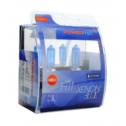 Pack 2 lámparas halógenas m-tech Powertec XENON BLUE H11 12V 55W