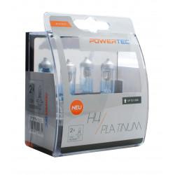 Pack 2 lámparas H4 Powertec Platinum +130% H7 12V DUO