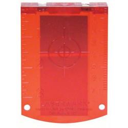Placa reflectora de medida (roja)