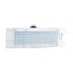 2 Plafones Led Placa de Matrícula Black Aluminium Q7 3 CREE LED