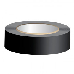 Cinta aislante PVC negra 25m 19mm