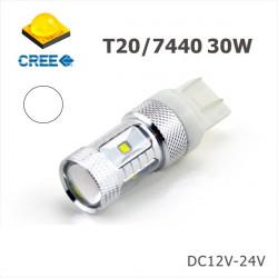2 Bombillas LED W21W 7440