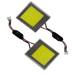 2 Plafones led 40mm×36mm 48LED COB WHITE