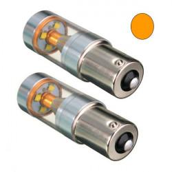 2 Bombillas LED BAU15S YELLOW 12-24V CREE-XBD 30W