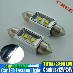 2 Bombillas led CREE-CANBUS-FESTOON 36 mm 10W 9-30V OSRAM white 140